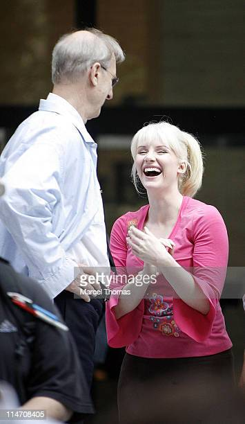 James Cromwell and Bryce Dallas Howard during Tobey Maguire Topher Grace James Cromwell and Bryce Dallas Howard on the Set of 'SpiderMan 3' May 28...