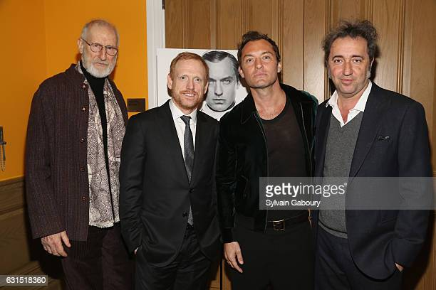 James Cromwell Scott Shepherd Jude Law and Paolo Sorrentino attend The Cinema Society Hosts a Screening of HBO's 'The Young Pope' on January 11 2017...