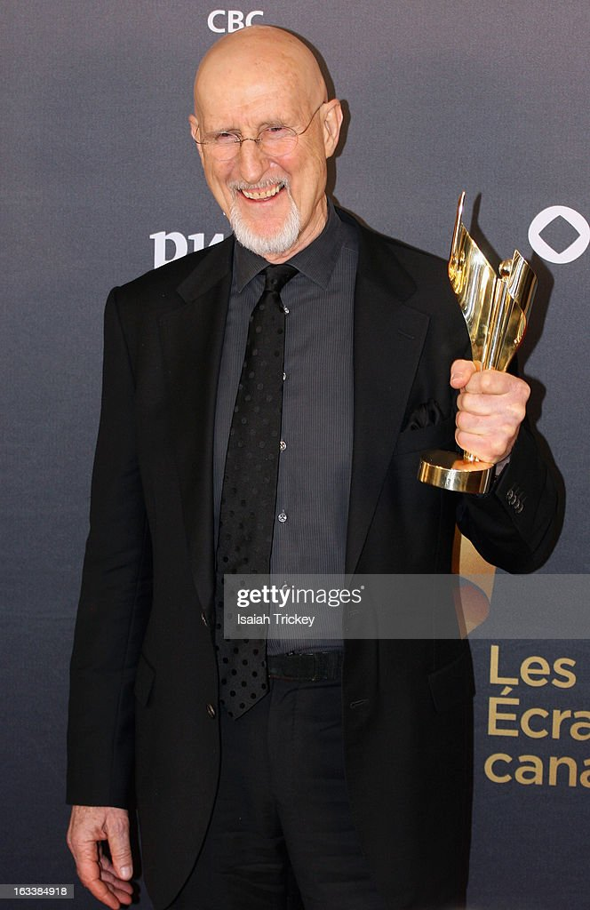 <a gi-track='captionPersonalityLinkClicked' href=/galleries/search?phrase=James+Cromwell&family=editorial&specificpeople=211295 ng-click='$event.stopPropagation()'>James Cromwell</a>, winner of the best actor in a leading role, attends the 2013 Canadian Screen Awards at Sony Centre for the Performing Arts on March 3, 2013 in Toronto, Canada.