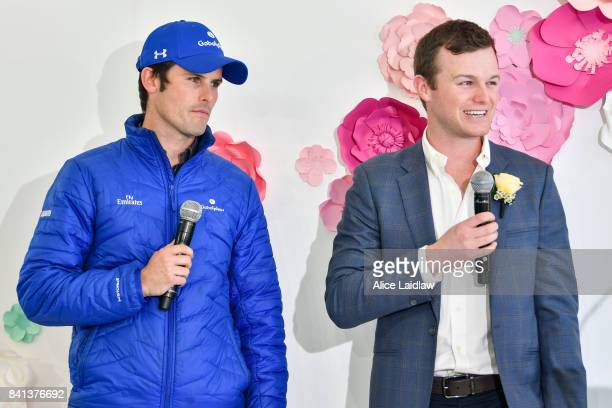 James Cummings and Ben Hayes at the Spring Racing Carnival Launch at Greenfields on September 01 2017 in Albert Park Australia
