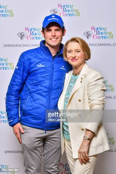 James Cummings and Gai Waterhouse at the Spring Racing Carnival Launch at Greenfields on September 01 2017 in Albert Park Australia