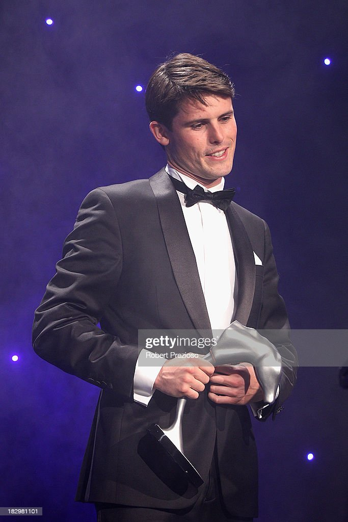 James Cummings grandson of Trainer Bart Cummings receives the award for Champion three year old filly racehorse Norzita during the Australian Racehorse of the Year Awards at Peninsula on October 3, 2013 in Melbourne, Australia.