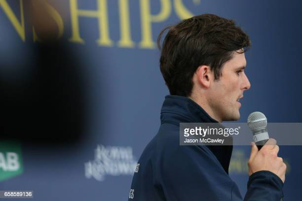 James Cummings is interviewed ahead of The Championships Day at Inglis Newmarket on March 28 2017 in Sydney Australia