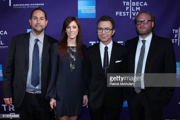 James Czarnecky Jackie Bauer Michael Gordon and Craig Teper attend TRIBECA FILM FESTIVAL Presents VIDAL SASOON THE MOVIE at SVA Theatre on April 23...