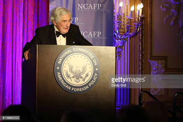 James D Wolfensohn accepts the George F Kennan Award for Public Service onstage at the National Committee On American Foreign Policy 2016 Gala Dinner...