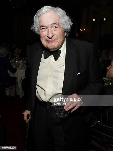 James D Wolfensohn accepts the George F Kennan Award for Public Service at the National Committee On American Foreign Policy 2016 Gala Dinner on...