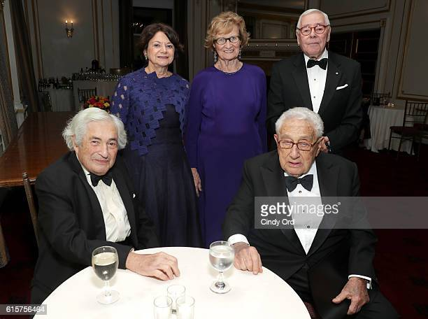 James D Wolfensohn Rosemary A DiCarlo Grace Kennan Warnecke Henry A Kissinger and George D Schwab attend the National Committee On American Foreign...