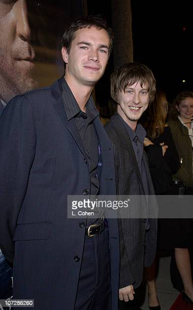 James D'Arcy and Lee Ingleby during 'Master Commander The Far Side of the World' Los Angeles Premiere Red Carpet at Samuel Goldwyn Theater in Beverly...