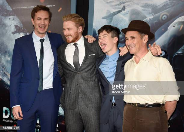 James D'Arcy Jack Lowden Barry Keoghan and Mark Rylance attend the 'DUNKIRK' premiere in New York City
