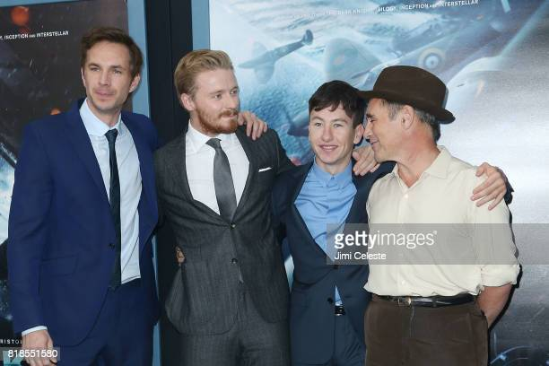 James D'Arcy James Lowden Barry Keoghan and Mark Rylance attends the US premiere of 'Dunkirk' at AMC Loews Lincoln Square IMAX on July 18 2017 in New...