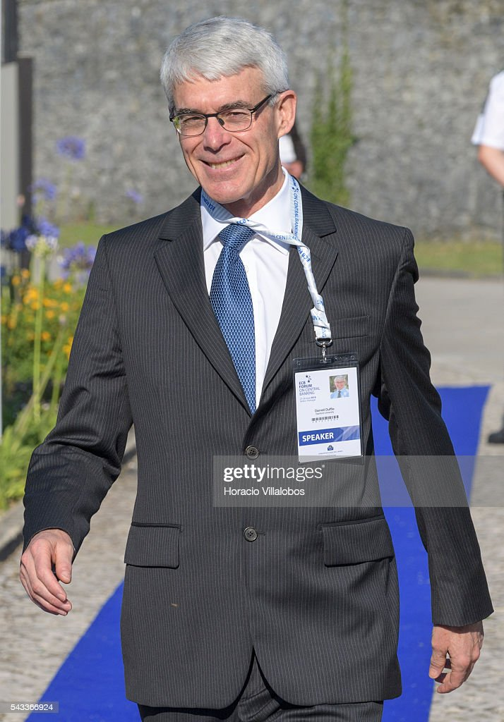 James Darrell Duffie, a Canadian financial economist, who is Dean Witter Distinguished Professor of Finance at Stanford Graduate School of Business, arrives to participate as speaker in the ECB Forum on Central Banking on June 27, 2016 in Sintra, Portugal. The third annual European Central Bank Forum on Central Banking focuses on 'The future of the international monetary and financial architecture', a key topic of debate among economists and policymakers. Some 150 central bank governors, academics, financial journalists and high-level financial market representatives will discuss current policy issues and the chosen topic from a longer-term perspective.