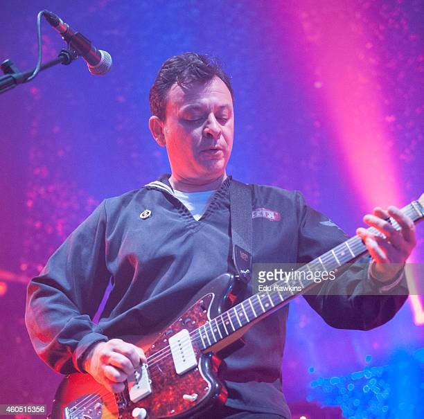 James Dean Bradfield of the Manic Street Preachers performs on stage at The Roundhouse on December 15 2014 in London United Kingdom