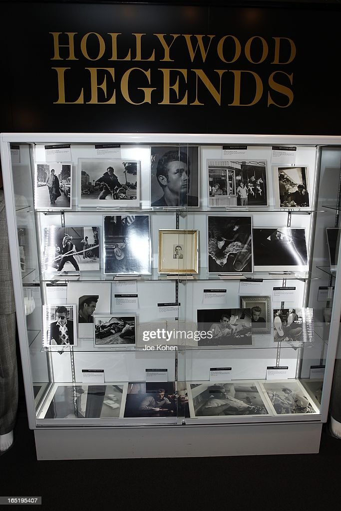 James Dean items seen on display at Julien's Auctions Gallery on April 1, 2013 in Beverly Hills, California.