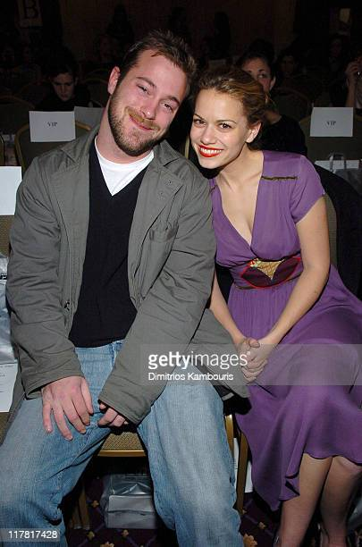 James DeBello and Bethany Joy Lenz during Olympus Fashion Week Fall 2005 Gen Art Front Row and Backstage at Rooselvelt Hotel Grand Ballroom in New...