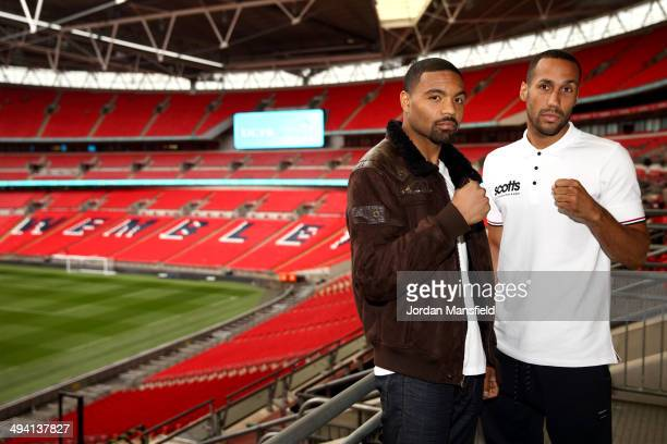 James DeGale and Brandon Gonzales go head to head during a press conference to announce the upcoming Final Eliminator for the IBF Super Middleweight...