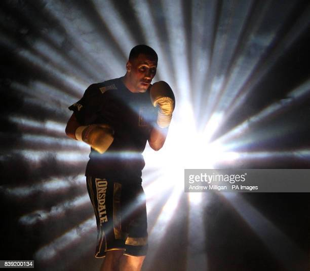 James DeGale enters the ring prior to the International SuperMiddleweight Bout at the Braehead Arena Glasgow