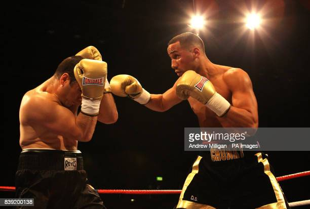 James DeGale in action in against Alpay Kobal during the International SuperMiddleweight Bout at the Braehead Arena Glasgow