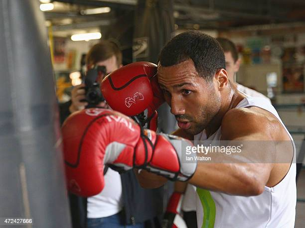 James DeGale Media Works out in Stonebridge Boxing Club as he prepares for his clash with Andre Dirrel for the IBF world Super Middleweight titleon...