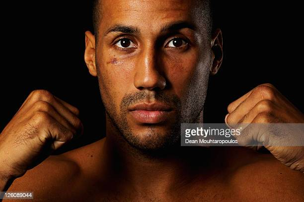 James DeGale of England poses after the Frank Warren Press Conference held at the O2 arena on September 22 2011 in London England