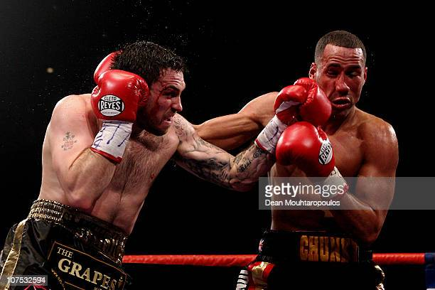 James DeGale of Harlsden and Paul Smith of Liverpool exchange blows during their SuperMiddleweight Chapionship of the World fight during the Frank...