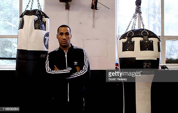 James DeGale poses during a press conference at Times Amateur Boxing Club on June 16 2011 in London England
