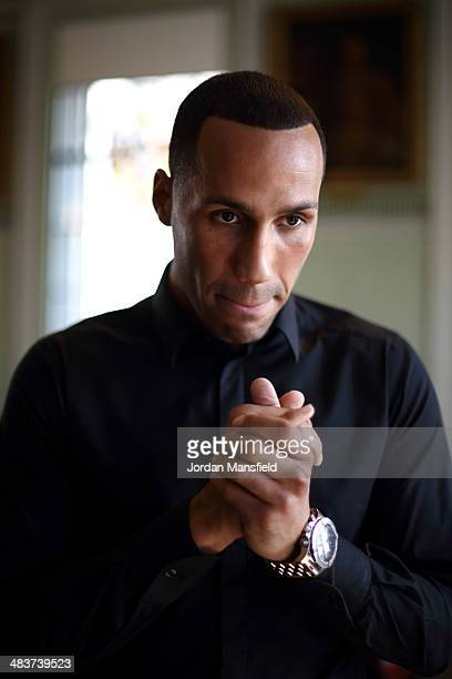 James DeGale poses during a press conference to announce that he has signed to Matchroom Boxing at Trinity House on April 10 2014 in London England