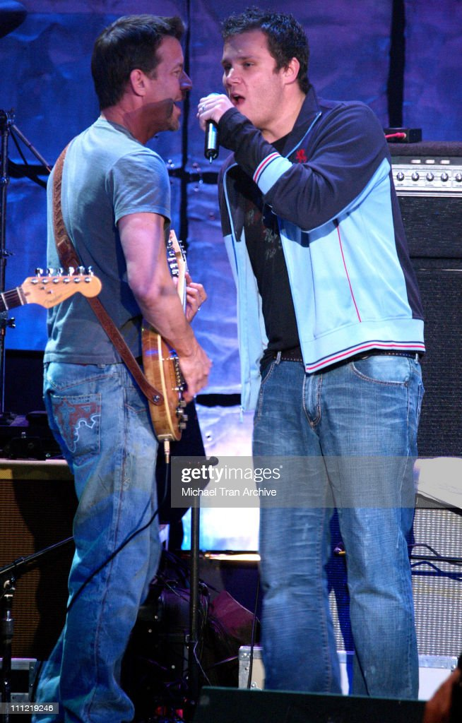 James Denton and Bob Guiney during The Guitar Center's 'An Evening with Ray Kennedy and Friends' at Avalon in Hollywood California United States