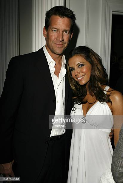 James Denton and Eva Longoria during GQ Magazine Honors Golden Globe Nominees Benefiting American Cinematheque Inside at GM Penthouse at the Regent...