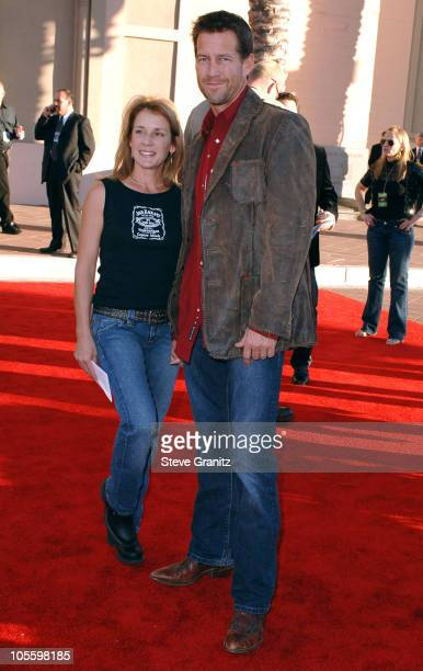 James Denton and guest during 33rd Annual American Music Awards Arrivals at Shrine Auditorium in Los Angeles California United States