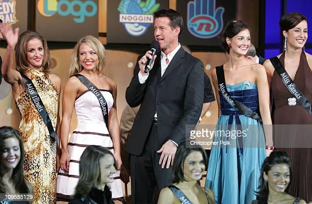 James Denton and Miss America 2006 contestants during 2006 TCA MTV Networks Presentation at Ritz Carlton Hotel Pavilion Room in Pasadena California...
