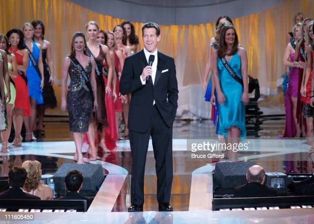 James Denton and Miss America Contestants during Miss America Winner 2006 Miss Oklahoma Jennifer Berry at Aladdin Resort Casino in Las Vegas Nevada...