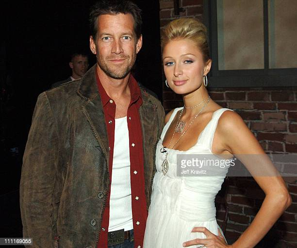 James Denton and Paris Hilton during 33rd Annual American Music Awards Backstage at Shrine Auditorium in Los Angeles California United States