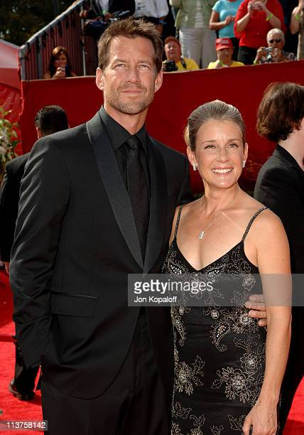 James Denton and wife Erin O'Brien during 57th Annual Primetime Emmy Awards Arrivals at The Shrine in Los Angeles California United States