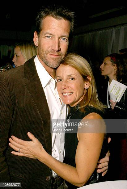James Denton and wife Erin O'Brien during Modern Mom Mingle to Benefit Children's Health Environmental Coalition Red Carpet and Inside at Skybar @...