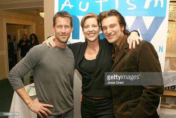 James Denton Andrea Parker and Michael T Weiss during 'Out at Short' Reading to Benefit Cure Autism Now at Sportsman Lodge in Los Angeles California...