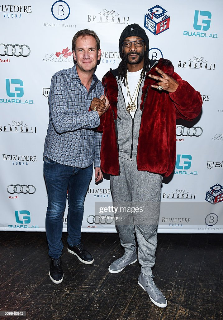 James Dodds and DJ Snoopadelic A.K.A <a gi-track='captionPersonalityLinkClicked' href=/galleries/search?phrase=Snoop+Dogg&family=editorial&specificpeople=175943 ng-click='$event.stopPropagation()'>Snoop Dogg</a> attend the Jose Bautista All-Star Weekend kick-off party with special guest set by DJ Snoopadelic A.K.A <a gi-track='captionPersonalityLinkClicked' href=/galleries/search?phrase=Snoop+Dogg&family=editorial&specificpeople=175943 ng-click='$event.stopPropagation()'>Snoop Dogg</a> sponsored by GuardLab at Brassaii on February 13, 2016 in Toronto, Canada.