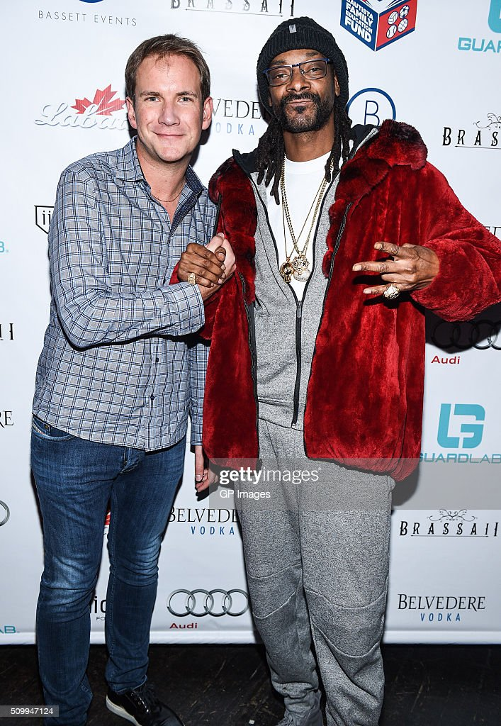 James Dodds and DJ Snoopadelic A.K.A <a gi-track='captionPersonalityLinkClicked' href=/galleries/search?phrase=Snoop+Dogg&family=editorial&specificpeople=175943 ng-click='$event.stopPropagation()'>Snoop Dogg</a> attend the Jose Bautista All-Star Weekend kick-off party with special guest set by DJ Snoopadelic A.K.A <a gi-track='captionPersonalityLinkClicked' href=/galleries/search?phrase=Snoop+Dogg&family=editorial&specificpeople=175943 ng-click='$event.stopPropagation()'>Snoop Dogg</a> sponsored by GuardLab at Brassaii on FEBRUARY 12, 2016 in Toronto, Canada.
