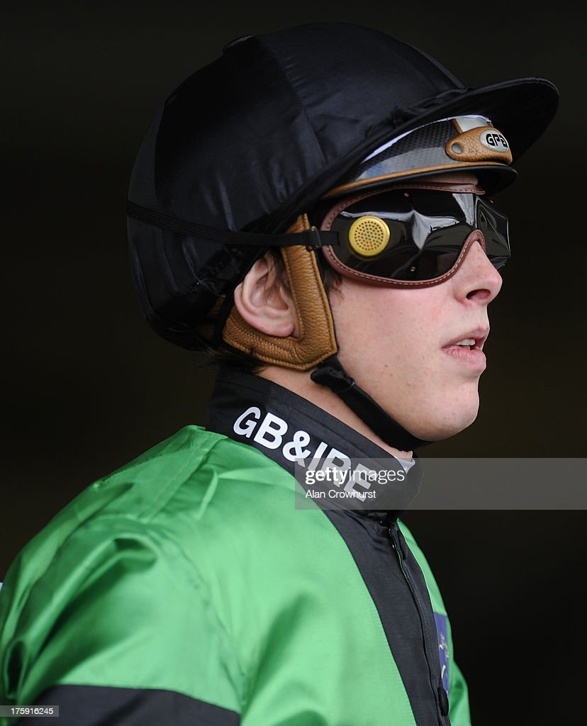 James Doyle poses at Ascot racecourse on August 10, 2013 in Ascot, England.