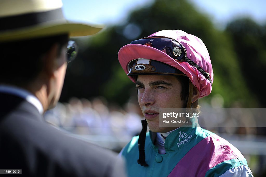 James Doyle poses at Sandown racecourse on August 31, 2013 in Esher, England.