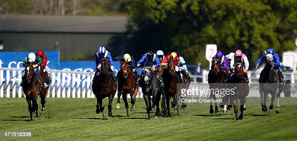 James Doyle rides Limato to win The Merriebelle Stable Pavilion Stakes at Ascot racecourse on April 29 2015 in Ascot England