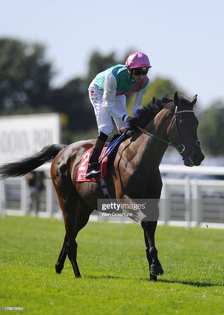 James Doyle riding Kingman at Sandown racecourse on August 31, 2013 in Esher, England.
