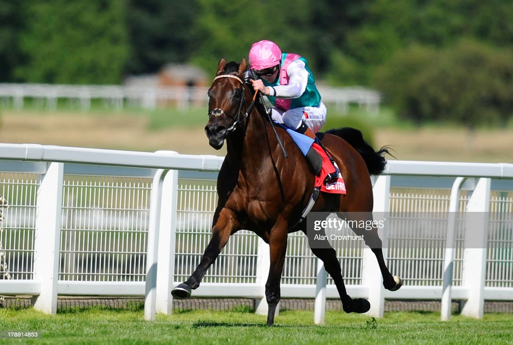 James Doyle riding Kingman win The Betfred Mobile Solario Stakes at Sandown racecourse on August 31, 2013 in Esher, England.