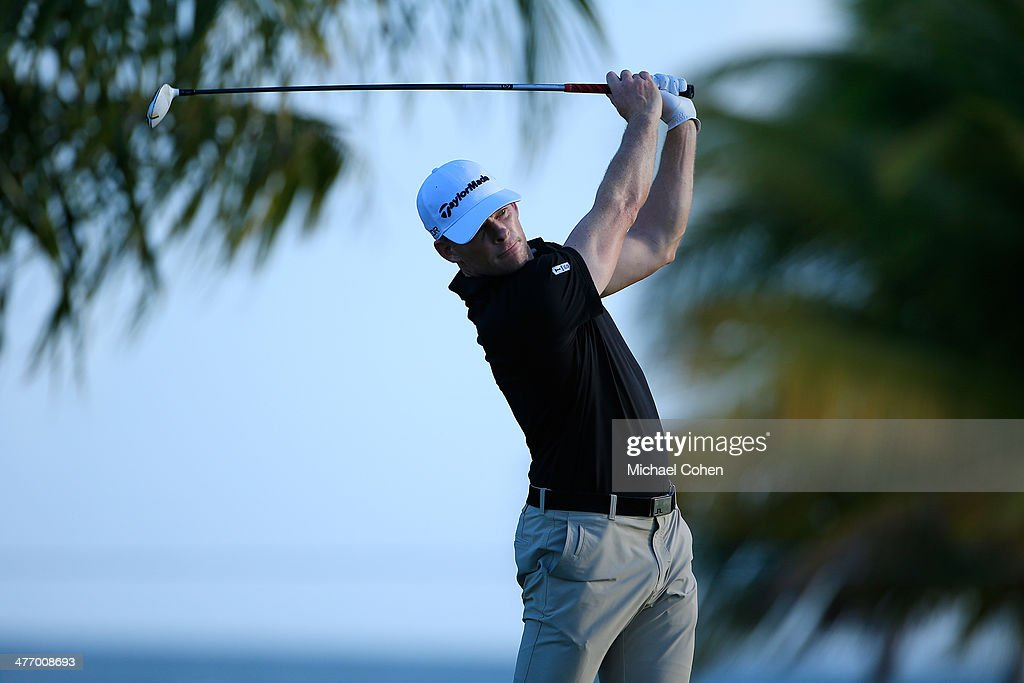 <a gi-track='captionPersonalityLinkClicked' href=/galleries/search?phrase=James+Driscoll&family=editorial&specificpeople=818192 ng-click='$event.stopPropagation()'>James Driscoll</a> hits a drive during the first round of the Puerto Rico Open presented by seepuertorico.com held at Trump International Golf Club on March 6, 2014 in Rio Grande, Puerto Rico.