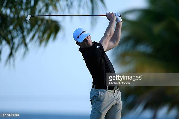 James Driscoll hits a drive during the first round of the Puerto Rico Open presented by seepuertoricocom held at Trump International Golf Club on...