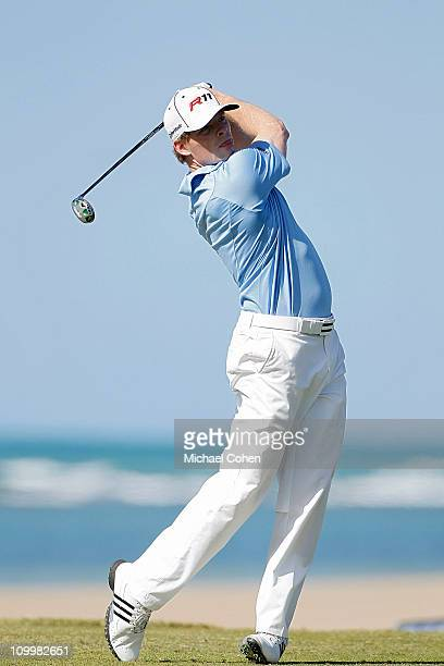 James Driscoll hits a drive during the second round of the Puerto Rico Open presented by seepuertoricocom at Trump International Golf Club on March...