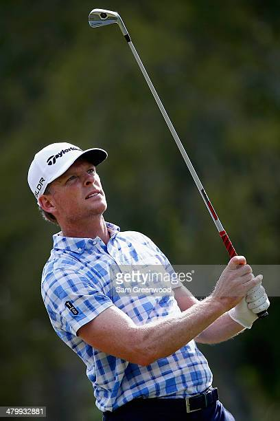 James Driscoll hits a tee shot on the 17th hole during the second round of the Valspar Championship at Innisbrook Resort and Golf Club on March 14...
