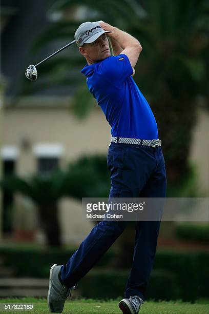 James Driscoll hits his drive on the 17th hole during the second round of the Chitimacha Louisiana Open presented by NACHER held at Le Triomphe Golf...