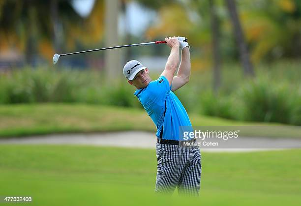 James Driscoll hits his second shot on the 15th hole during the third round of the Puerto Rico Open presented by seepuertoricocom held at Trump...