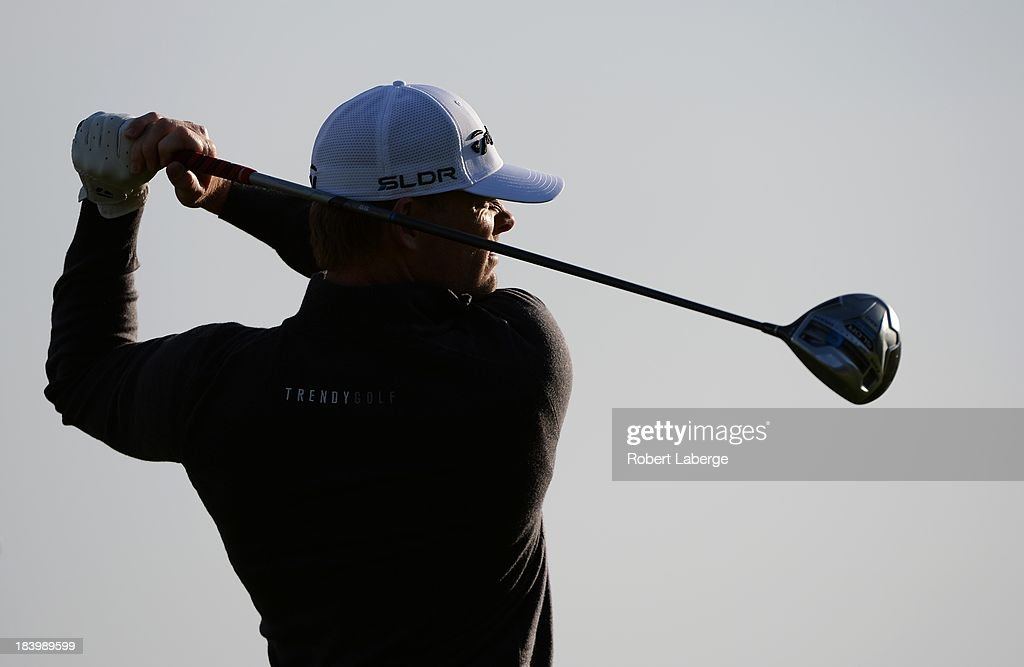 <a gi-track='captionPersonalityLinkClicked' href=/galleries/search?phrase=James+Driscoll&family=editorial&specificpeople=818192 ng-click='$event.stopPropagation()'>James Driscoll</a> makes a tee shot on the fourth hole during round one of the Frys.com Open at the CordeValle Golf Club on October 10, 2013 in San Martin, California.