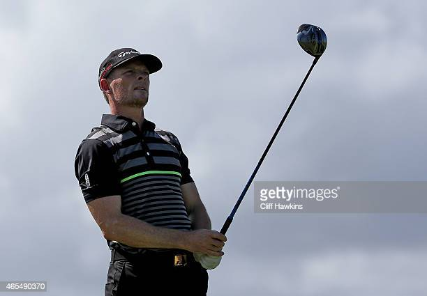 James Driscoll plays his shot from the ninth tee during round three of the Puerto Rico Open presented by Banco Popular on March 7 2015 in Rio Grande...